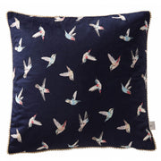 Oasis Botanical Hummingbird Filled Square Cushion