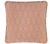 Alpha Geometric Piped Filled Cushion Cover - Orange