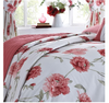 Arley Floral Print Quilted Bedspread - Red