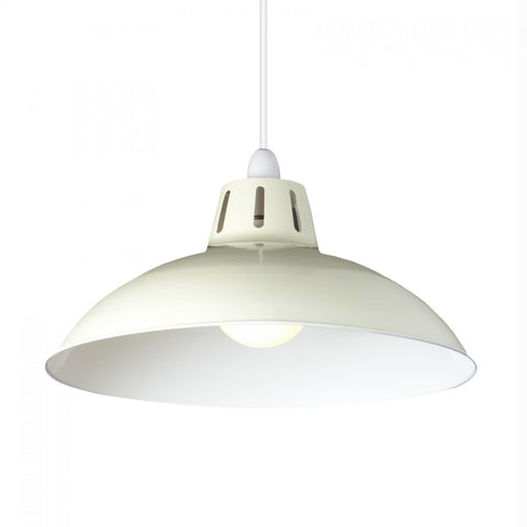 Large Cut Out Dome Metal Lighting Pendant Shades - Cream