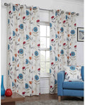 Sundour Monterey Lined Eyelet Curtains - Teal