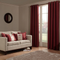 iLiv Anderson Woven Lined Eyelet Curtains - Red