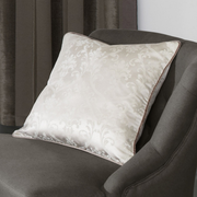 iLiv Palladio Mocha Jacquard Feather Filled Cushion - Latte