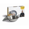 Ken Hom Everyday Non Stick Stainless Steel 2 Piece Wok Set - 32cm