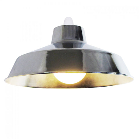 Large Dual Fitting Pluto Metal Lighting Pendant Shades - Chrome