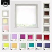 BLACKOUT ROLLER BLINDS -EASY FIT TRIMMABLE ( 20 Plus Colours)