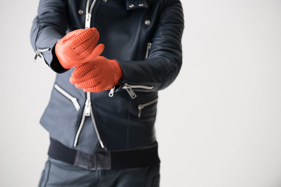 Gants Leather Orange