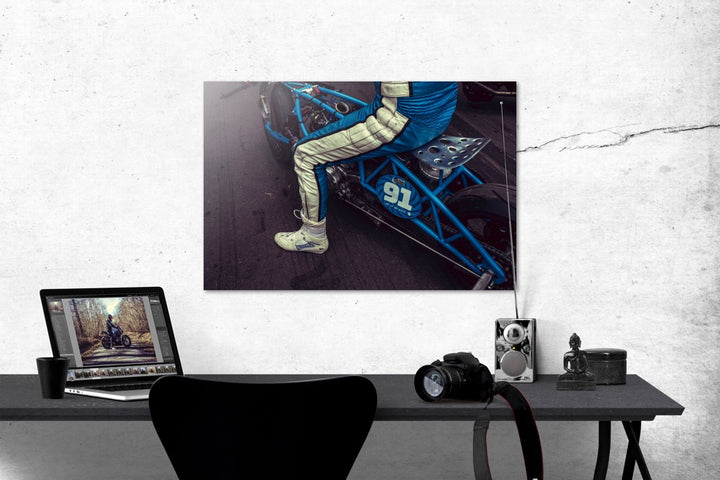 "Photo ""Blue Lightning"" Tirage Baryté sur aluminium"