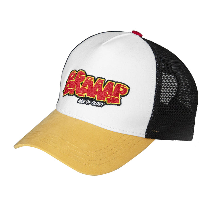 Casquette Braaap White Yellow Black
