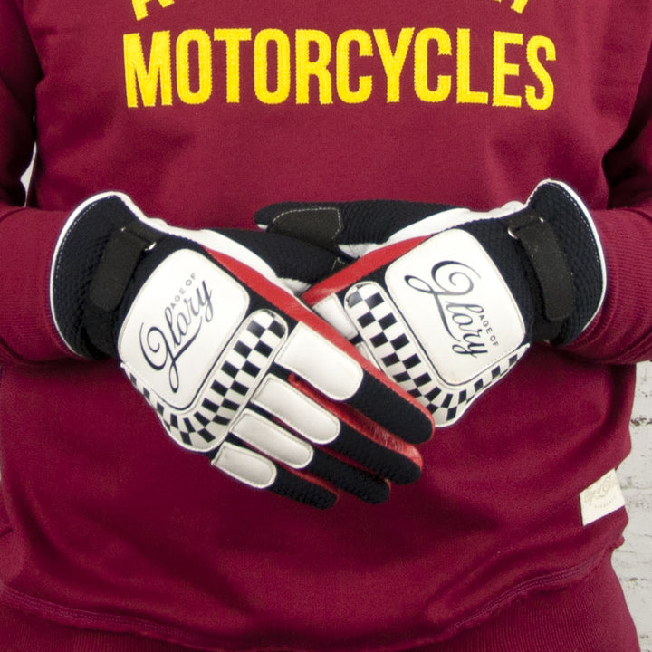 Gants Dirt Track White Black Red