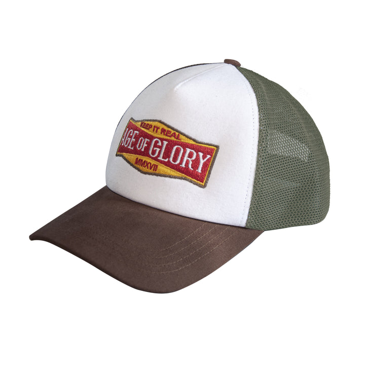 Casquette Keep It Real White Brown Army Green