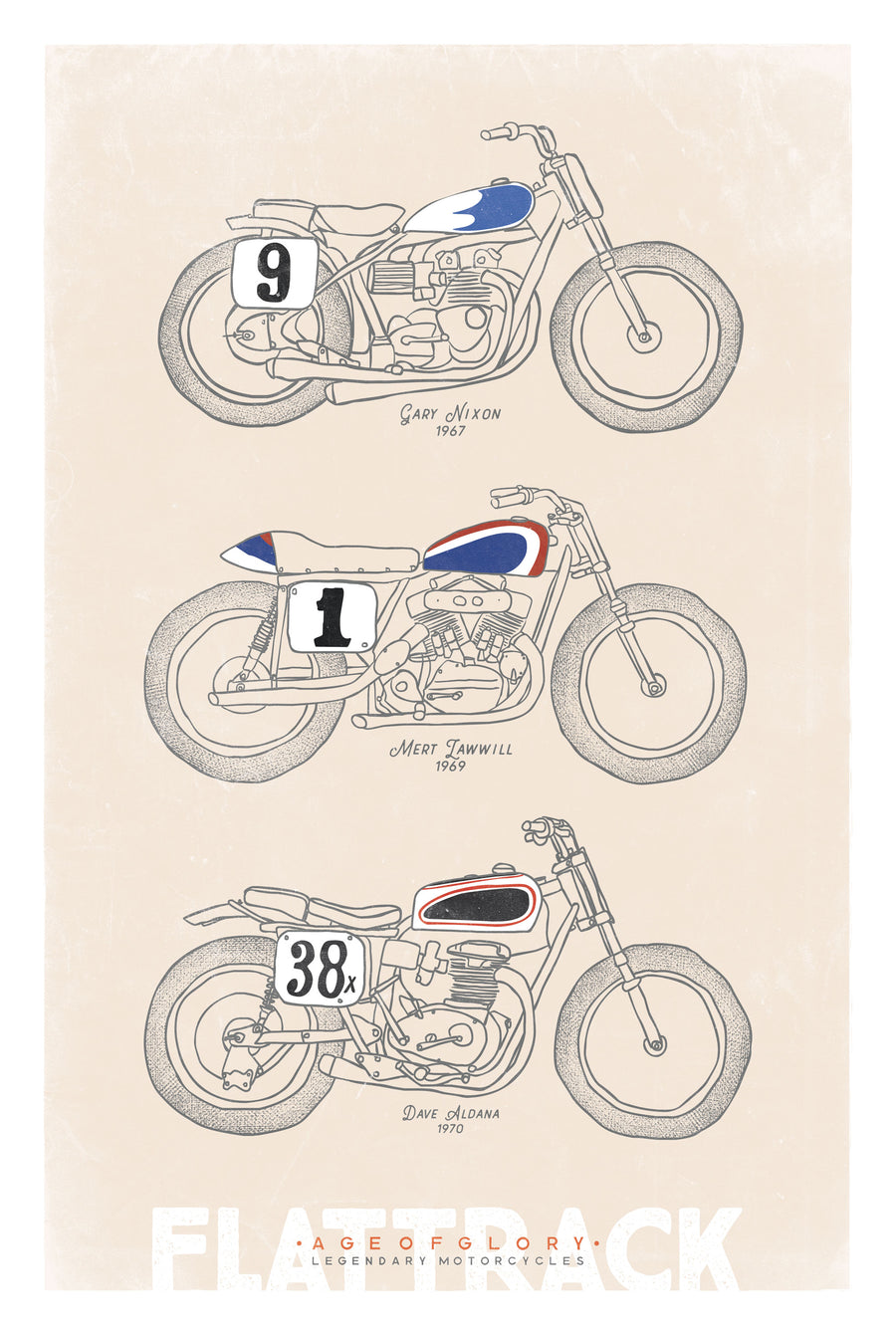 Poster Age of Glory - Flat Track Bikes