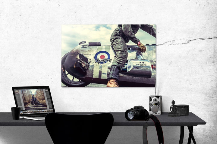 "Photo ""Spitfire"" Tirage Baryté sur aluminium"