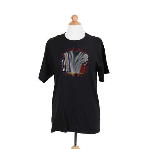 Accordion Rhinstones Women's T Shirts