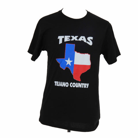 Texas Tejano County T-Shirt BLACK