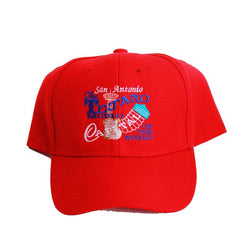 San Antonio Capital of The World Red Cap Embroidered