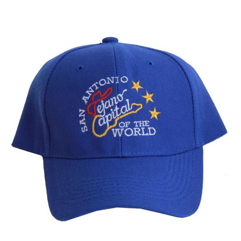 San Antonio Capital of The World Blue Stars Cap Embroidered