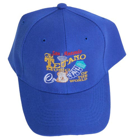 San Antonio Tejano Music Capital Of The World Accordion Blue Cap