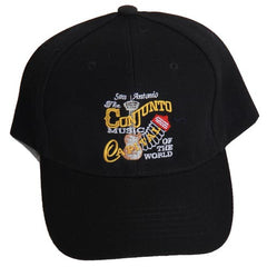 San Antonio Tejano Music Capital Of The World Accordion Black Cap