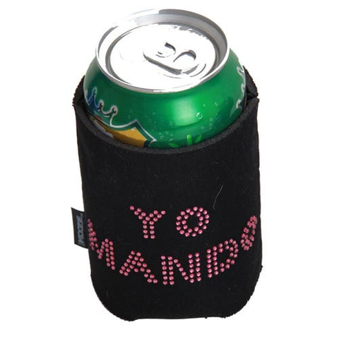 Black Koozie with Rhinestones YO MANDO