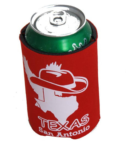 Texas San Antonio Red Koozie