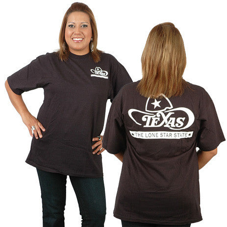 Texas Lone Star State Black T Shirt