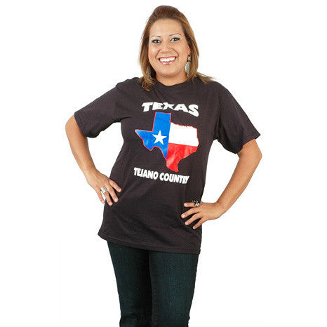 Texas Map Tejano Country T-Shirt