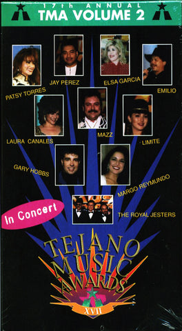 17th Annual Tejano Music Awards VHS Video Vol 2  1997 W/ free DVD of same VHS