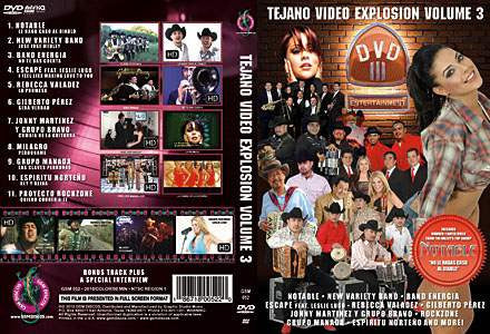 Tejano Video Explosion Volume 3 DVD