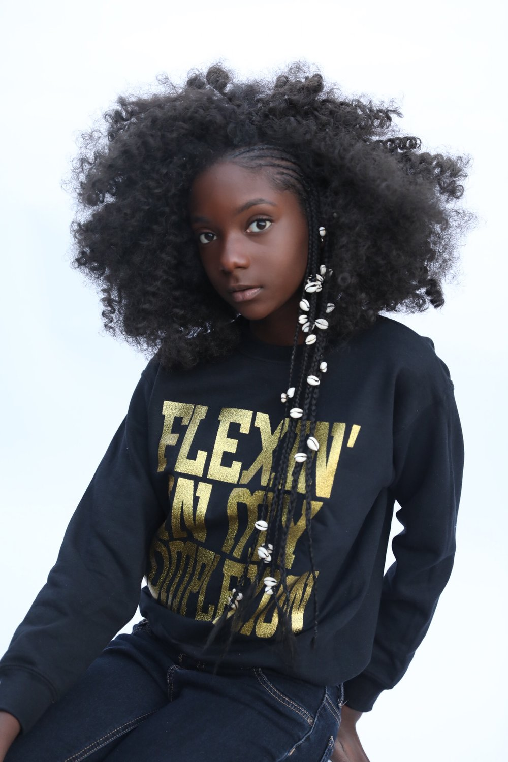 Flexin' In My Complexion Crewneck: Gold