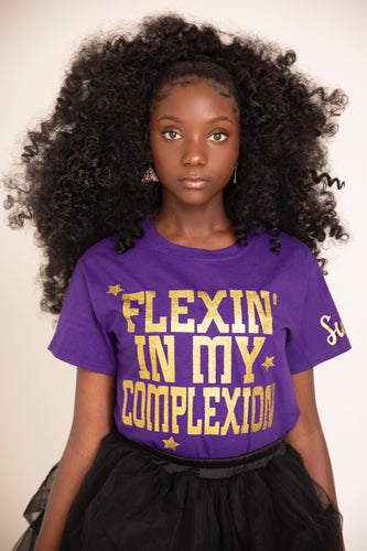 Sulwe x Flexin' In My Complexion Purple Tee