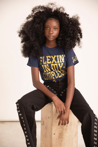Sulwe x Flexin' In My Complexion Navy Tee