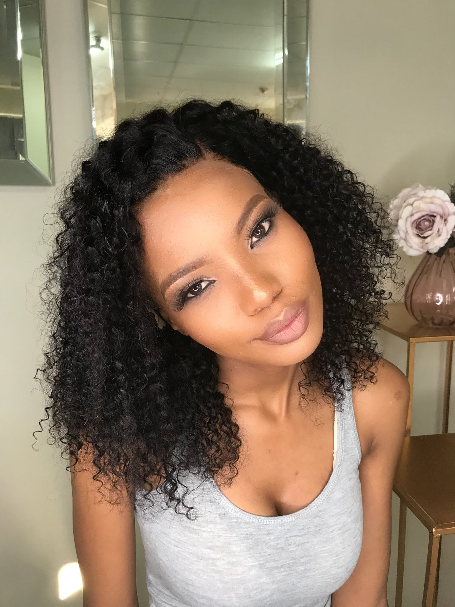 lace frontal curly wig unit