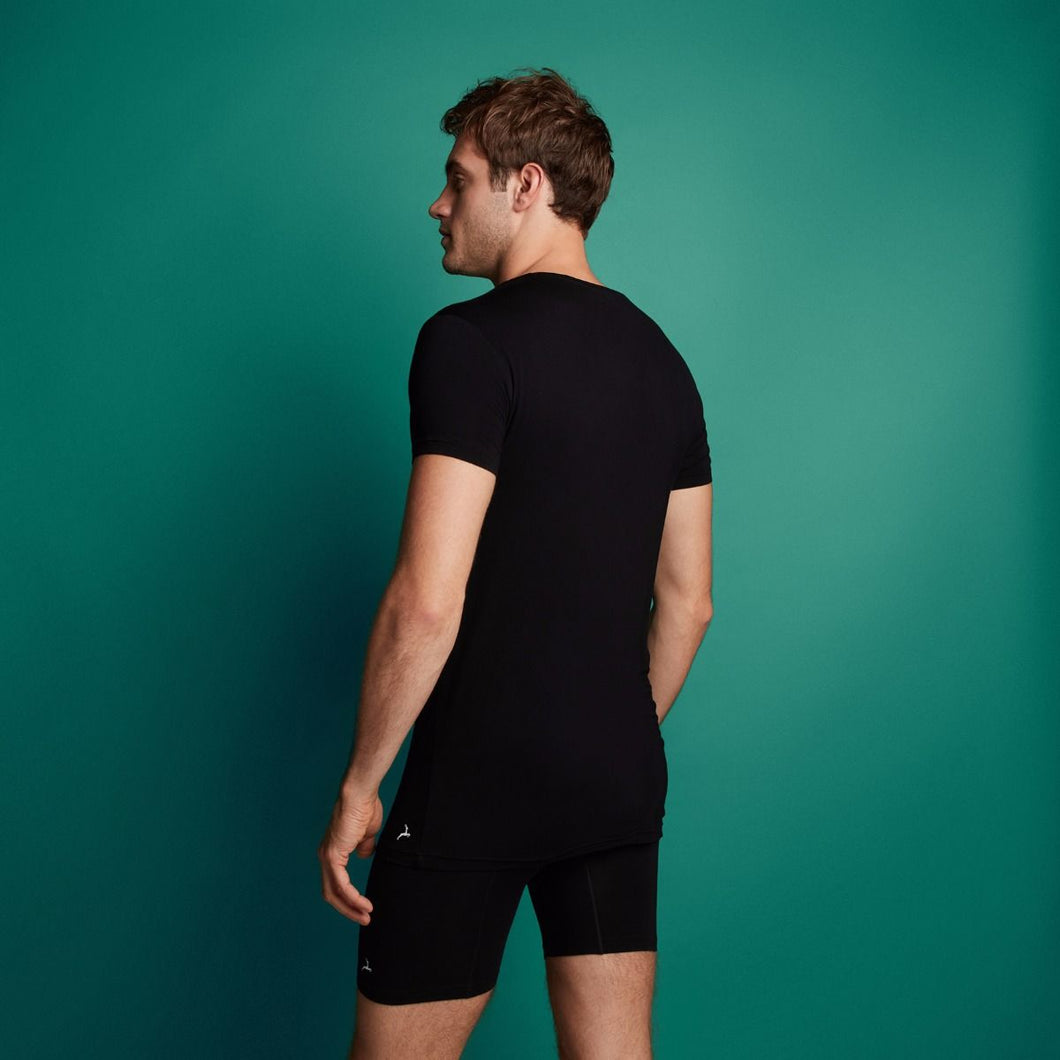 Basic men bamboo T-shirt 30860 090 black