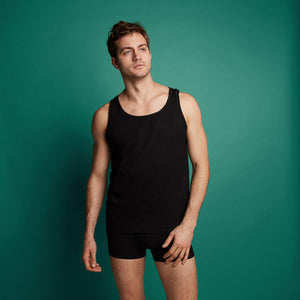 Basic men singlet 2 pack 30867 090 black