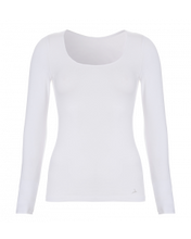 Afbeelding in Gallery-weergave laden, Basic women long sleeve 30200 001 white