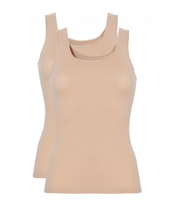 Basic women shirt 2 pack 30197 027 tan
