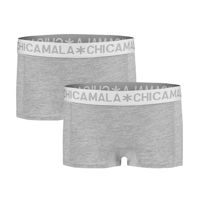 Women 2-pack Boxershort Solid  1215BASIC06 grey-grey