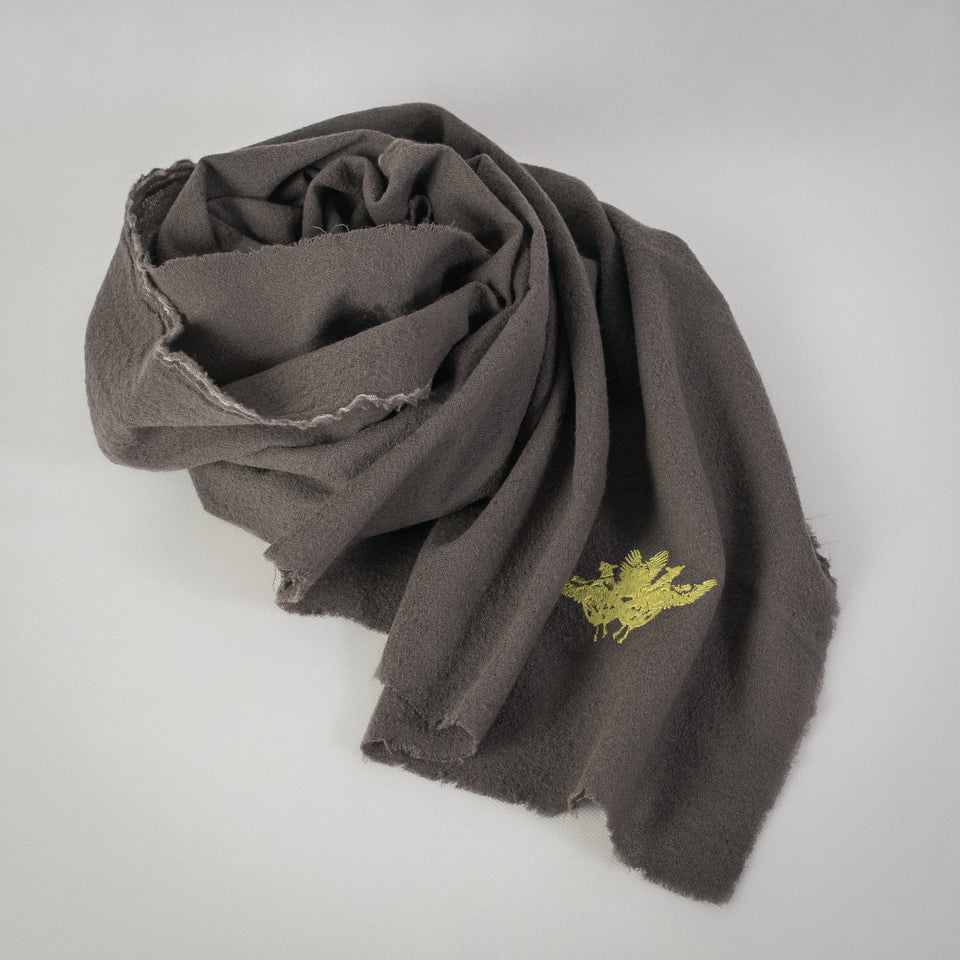 WOOL SCARF _ TAUPE
