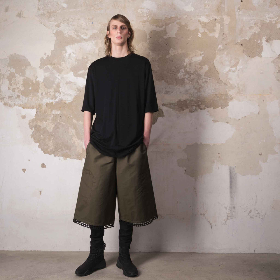 KHAKI LOOSE TROUSERS