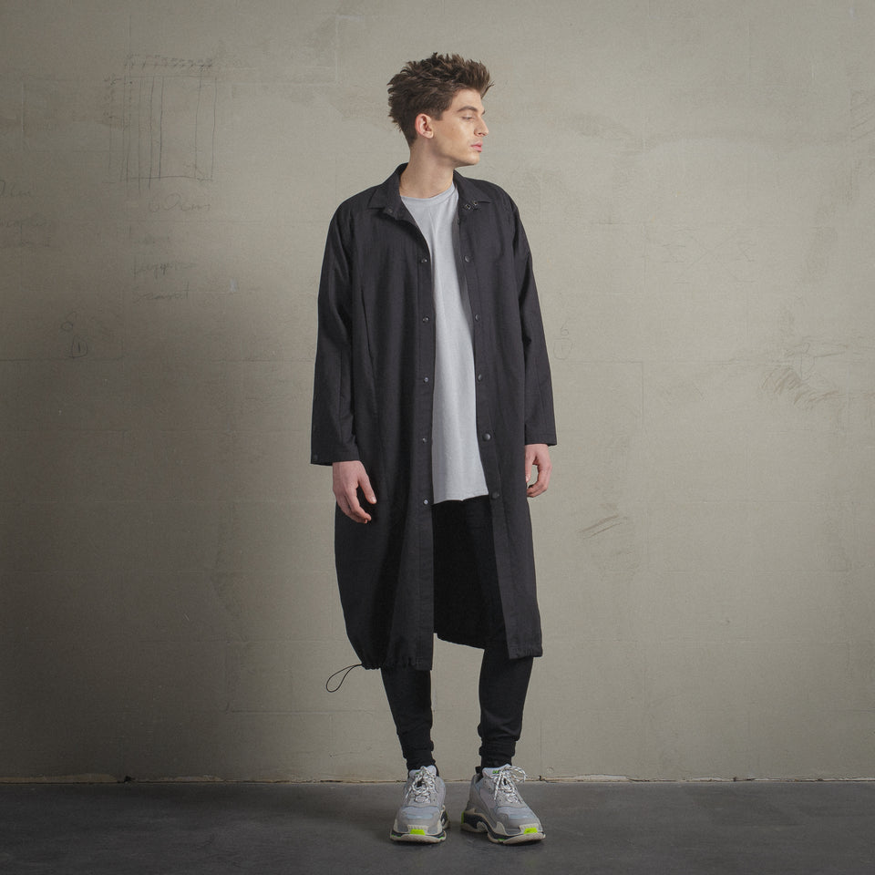 LONG FIT BLACK JACKET / SHIRT