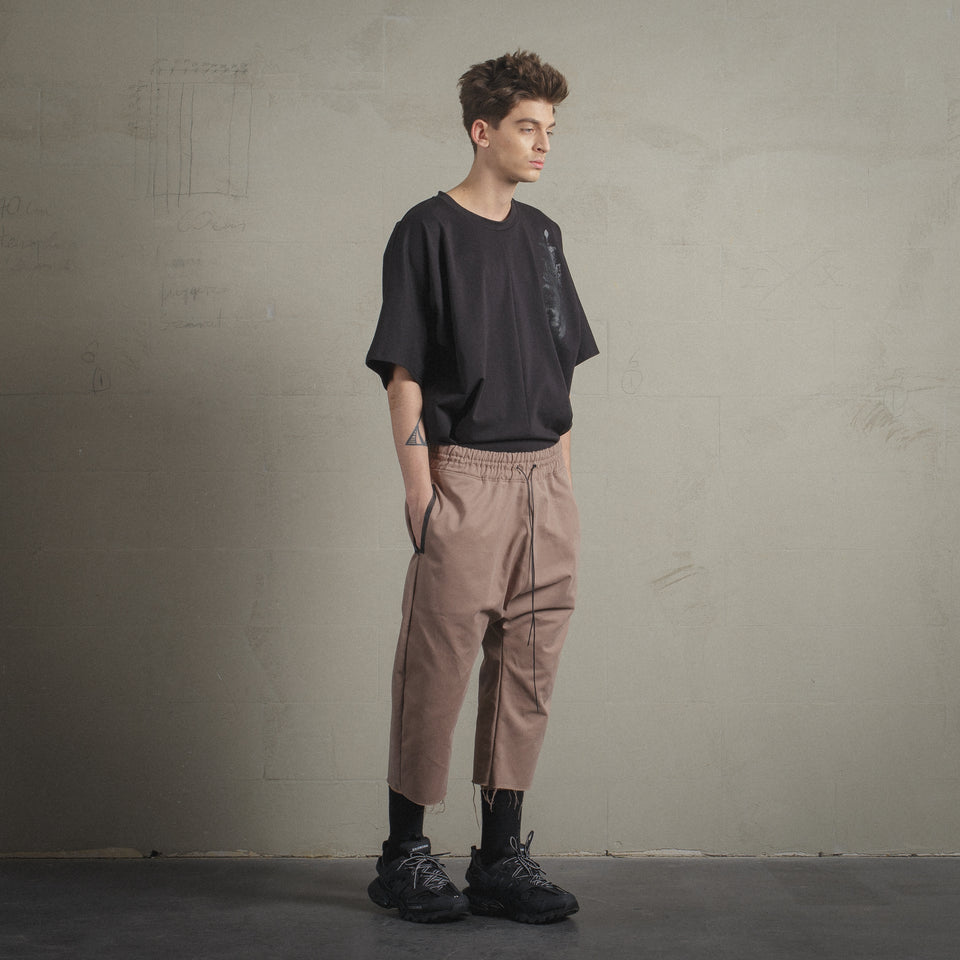 HAZELNUT PANTS WITH HANDPAINTED DETAILS