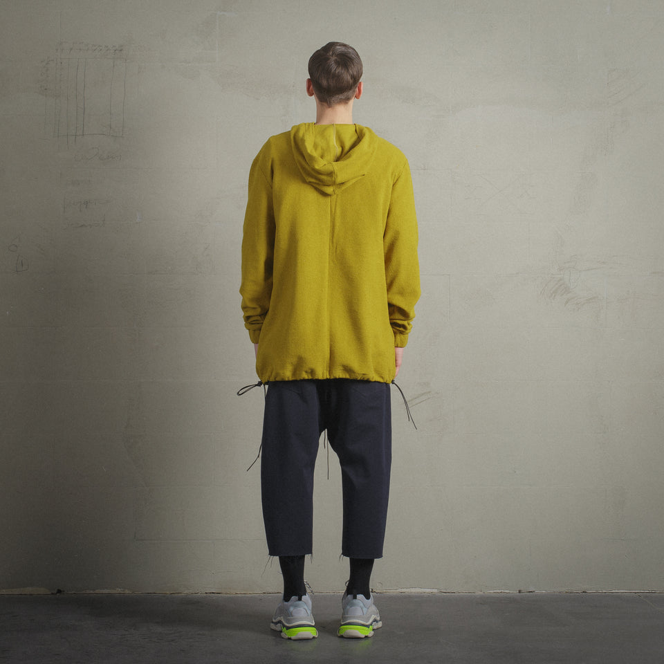 RAW VENOMOUS YELLOW HOODED JUMPER