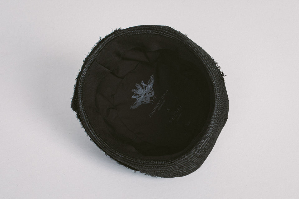 Vecsei Millinery collaboration _ RAW BLACK HAT _ 59