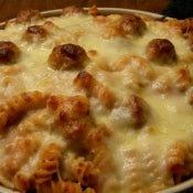Rotini Meatball Bake Recipe