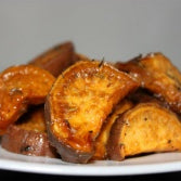 Thyme Roasted Sweet Potato Wedges Recipe