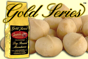 Dry Roasted Macadamias Gold Series 1 LB. Bag