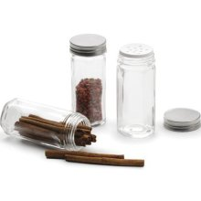 Hexagonal Glass Spice Bottles