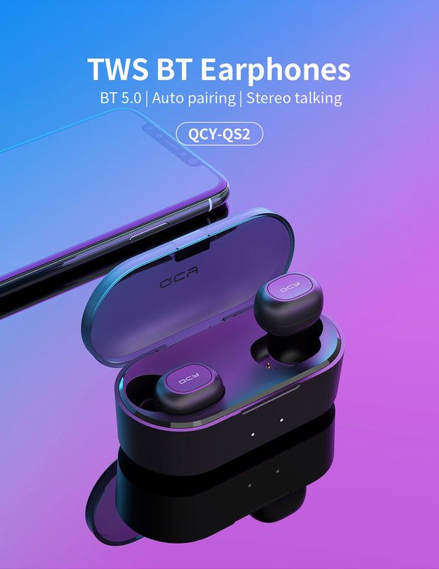 QS2 TWS Bluetooth V5.0 Headphones