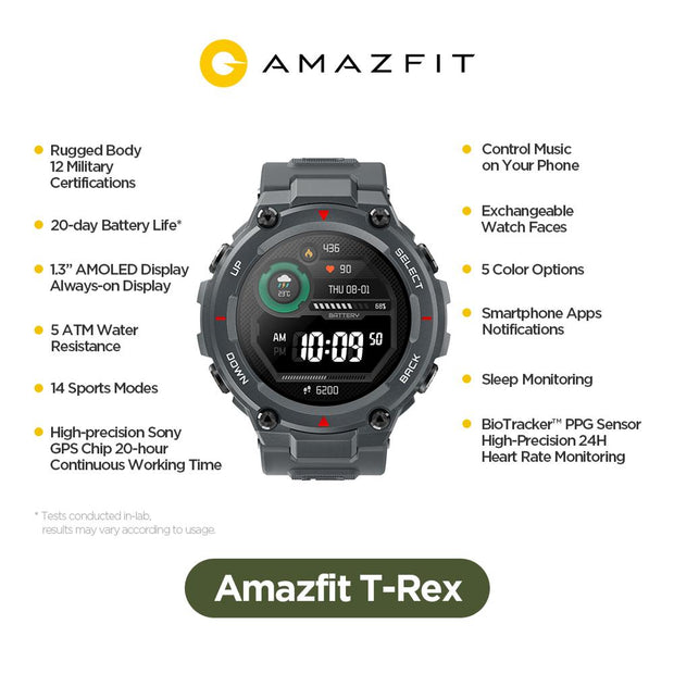 New  Amazfit T Rex Smartwatch